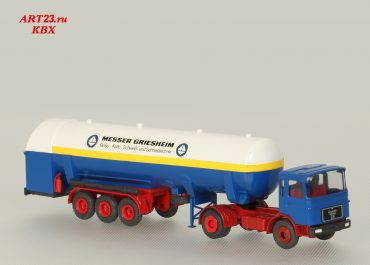 MAN F8 19.280 FS «Messer Griesheim» truck tractor with 3-axle semi-trailer-tank TT 300