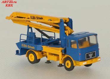 Elba — Scheele LSB truck-mounted concrete pump with boom