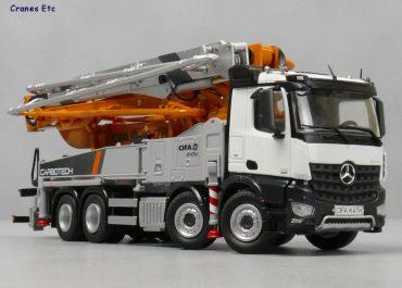 CIFA K45H XRZ Carbotech Series truck-mounted concrete pump