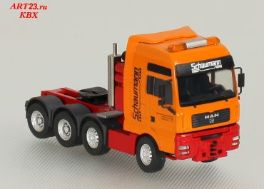 MAN TGA 41.660 XXL «Schaumann» heavy haulage tractor with semi-trailer-bridge trailer Goldhofer