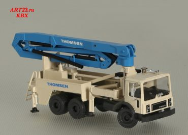 Thomsen TVS 3212H/Putzmeister M32 truck-mounted concrete pump with boom