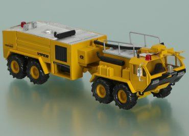 Rosenbauer Viper fire airfield truck on the chassis Oshkosh DA1500