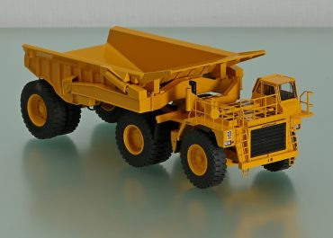 Caterpillar 776 Mining off-road truck tractor with 1-axle Truck semi-trailer RD160