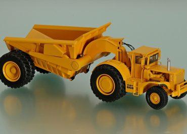 Caterpillar PR660 Rear Dump witch 1-axle semi-trailer back discharge Athey T Line PR660