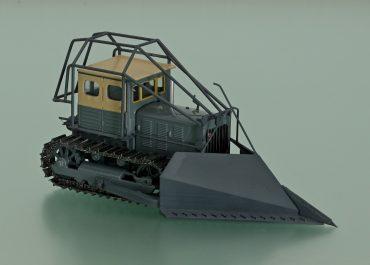 Д-174, 174А, 174Б, 174В кусторез на базе трактора С-80 «Сталинец»