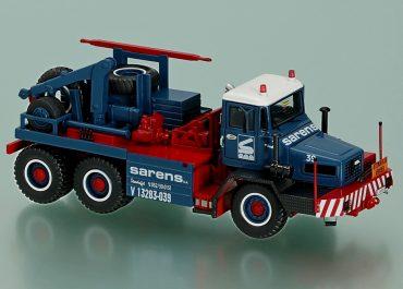 Mol «Sarens» heavy hauler on base Mol Т6066 HFT 2666 with a winch 30 tons and crane Palfinger PK, cabin FAUN