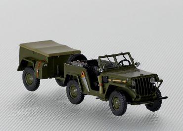 АР-НАТИ, вариант №1, бездверный многоцелевой автомобиль-разведчик, с прицепом НАТИ