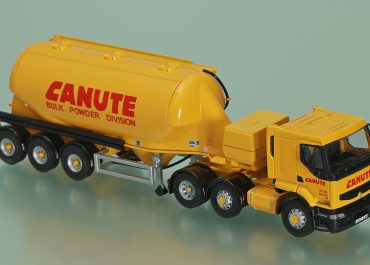 Renault Premium 440.26 «Canute Haulage Group PLC» truck tractor with 3-Axle powder tanker