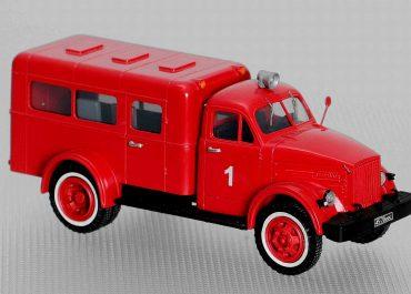 Пожарный штабной автомобиль для выезда к месту пожара оперативной группы, организации связи и освещения на базе санитарного ПАЗ-653 (шасси ГАЗ-51К 4х2)