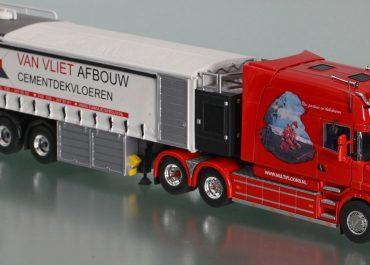 Scania T144G Longline «Van Vliet Afbouw» truck tractor with semi-trailer Bremat F3.20
