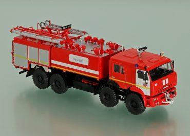 АА-13/60(6560) №468, аэропорт «Пулково-1», аэродромный пожарный автомобиль на шасси КамАЗ-6560
