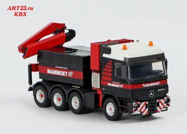 Mercedes Benz Actros MP2 4160S SLT «Mammoet» heavy saddle-ballast tractor with manipulator crane Hiab