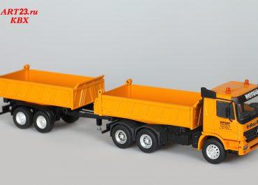 Mercedes-Benz Actros MP2 2646K «Heffner» three-way dump truck Meiller Kipper with trailer MZDA 18/21