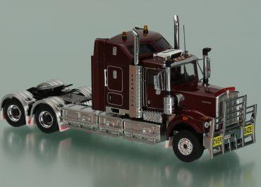 Kenworth C509 Aero II Sleepper truck tractor with trailer Drake CQHH, Dolly