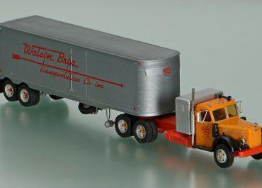 Mack LT 1953. «Watson Brothers Transportation Co. inc.» Highway truck tractor with semi-trailer-van TT-2