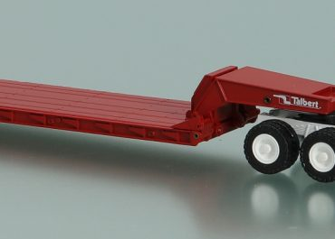 Mack R600ST truck tractor with low-frame front treller Talbert T3DW-80