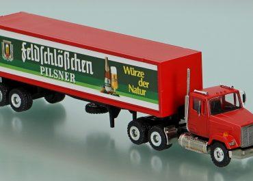 Freightliner FLС 112 «Feldschlosschen Pilsner» 6х4 truck tractor and semi-trailer-container ship