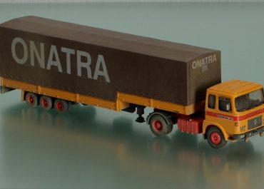SAVIEM SM 300 «Transports Onatra» Highway truck tractor with semi-trailer-awning