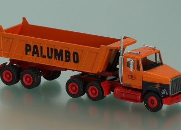 Freightliner FLС 112 «Palumbo» Chicago IL truck tractor with rear dump truck semi-trailer Meiller MHKS 40/2