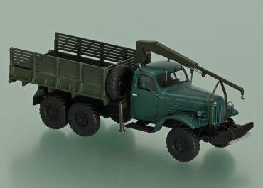 ЛЗА-4033 гидравлический кран-самопогрузчик на шасси ЗиЛ-157К