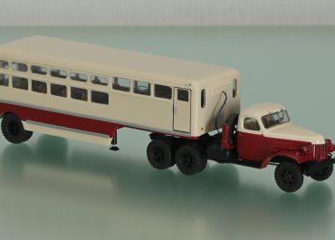 Т-100 опытный пассажирский автопоезд для перевозки рабочих лесозаготовок, тягач ЗиЛ-151