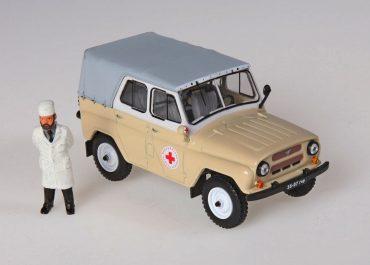 УАЗ-469БГ автомобиль для оказания медицинской помощи на дому в сельской местности