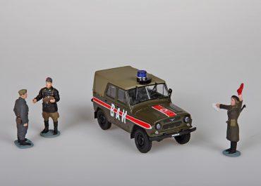 УАЗ-469/469Б автомобиль Военной АвтоИнспекции Советской Армии
