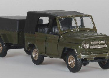 УАЗ-469/469Б грузопассажирский вседорожник с прицепом ГАЗ-704