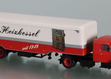 Henschel HS 140S «Bruns Heizkessel» Highway truck tractor with semi-trailer-van
