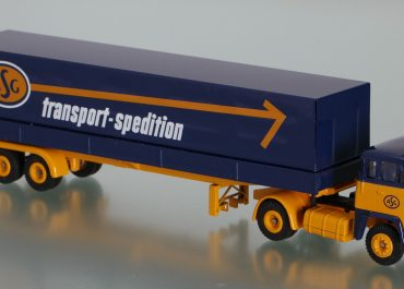 Scania-Vabis LB 76 «ASG Transport Spedition» Highway truck tractor with semi-trailer-awning