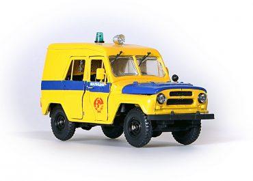 УАЗ-469(Б)-АП или АДЧ милицейский автомобиль Патрульно-постовой службы или Дежурной части