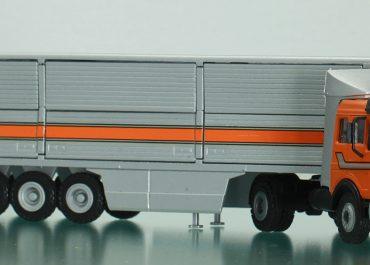 Mercedes-Benz NG 1632S Highway truck tractor with side semi-trailer-van